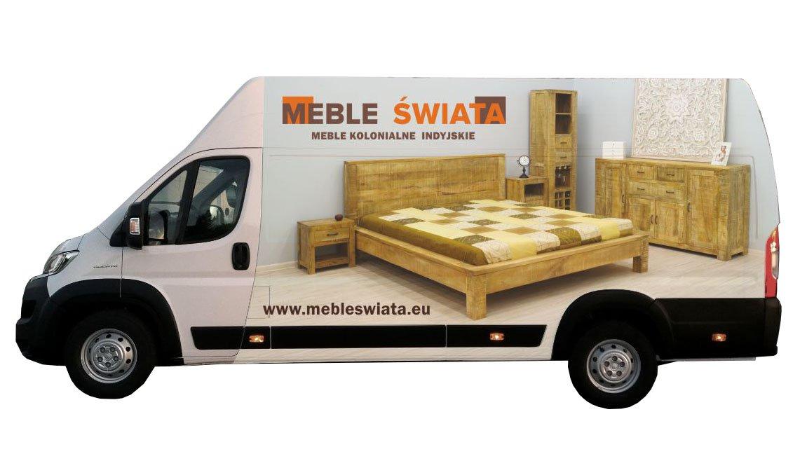 dostawa samochodem firmowym Meble Świata