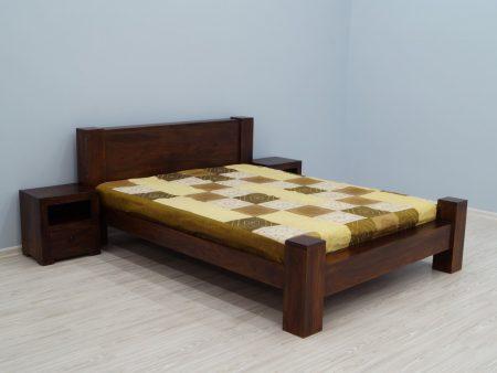 Łóżko kolonialne lite drewno palisander indyjski nowoczesne ciemny brąz