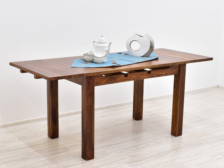 Stół kolonialny rozkładany lite drewno palisander indyjski jasny brąz nowoczesny