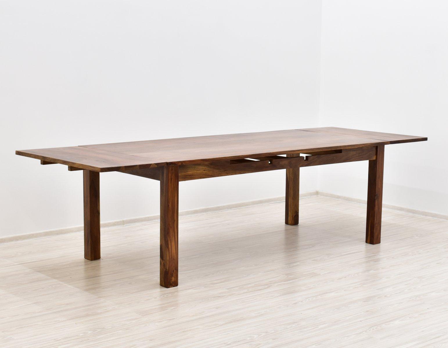 Stół kolonialny lite drewno palisander indyjski rozkładany jasny brąz nowoczesny duży