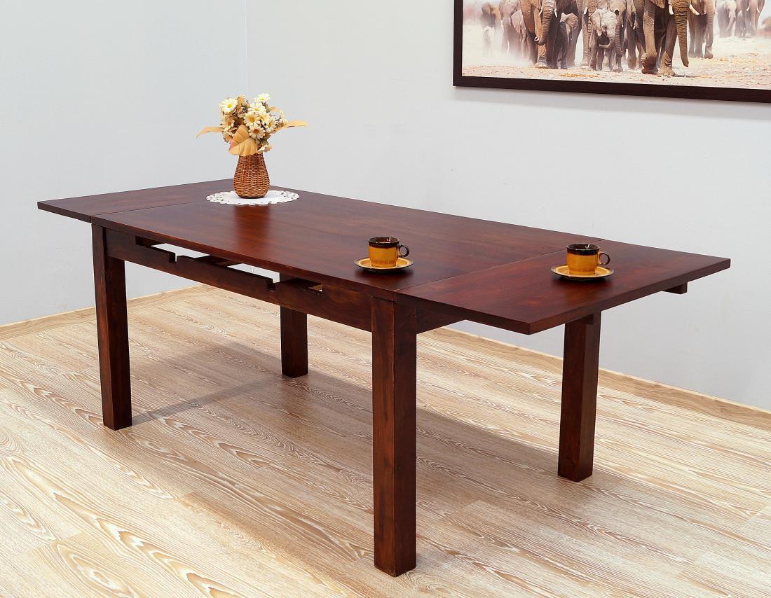 Stół kolonialny rozkładany lite drewno palisander indyjski ciemny brąz klasyczny