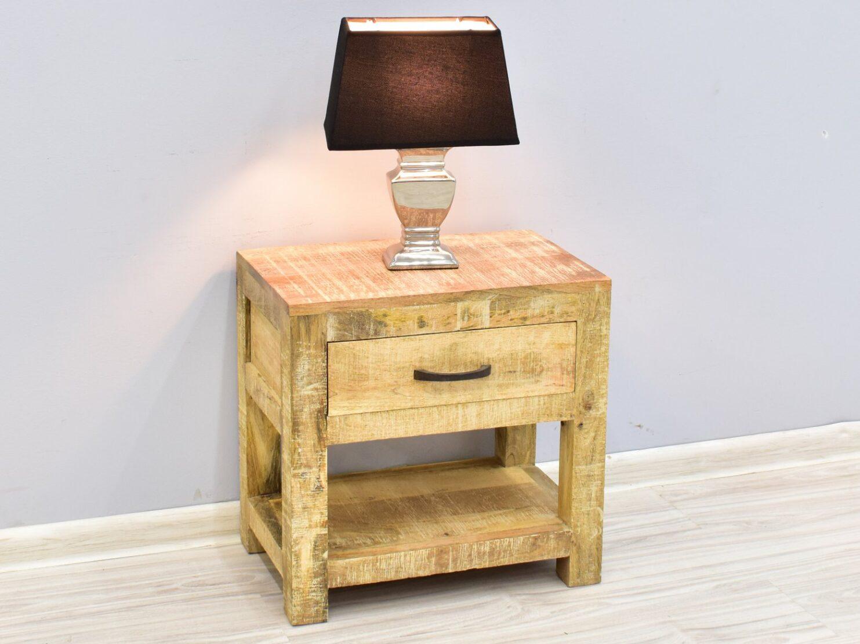 Szafka nocna stolik nocny lite drewno mango styl loft