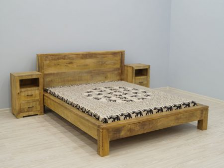 Łóżko kolonialne lite drewno mango Loft