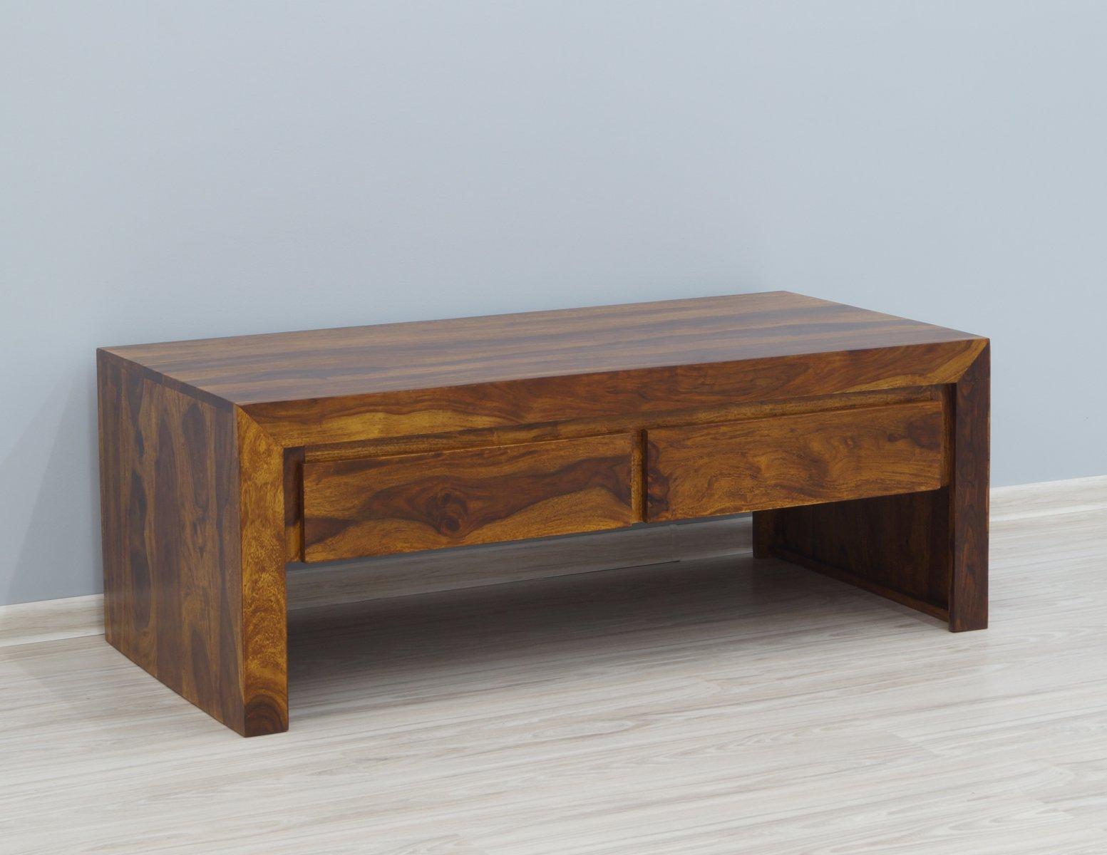 Ława kolonialna lite drewno palisander indyjski miodowy brąz 4 szuflady