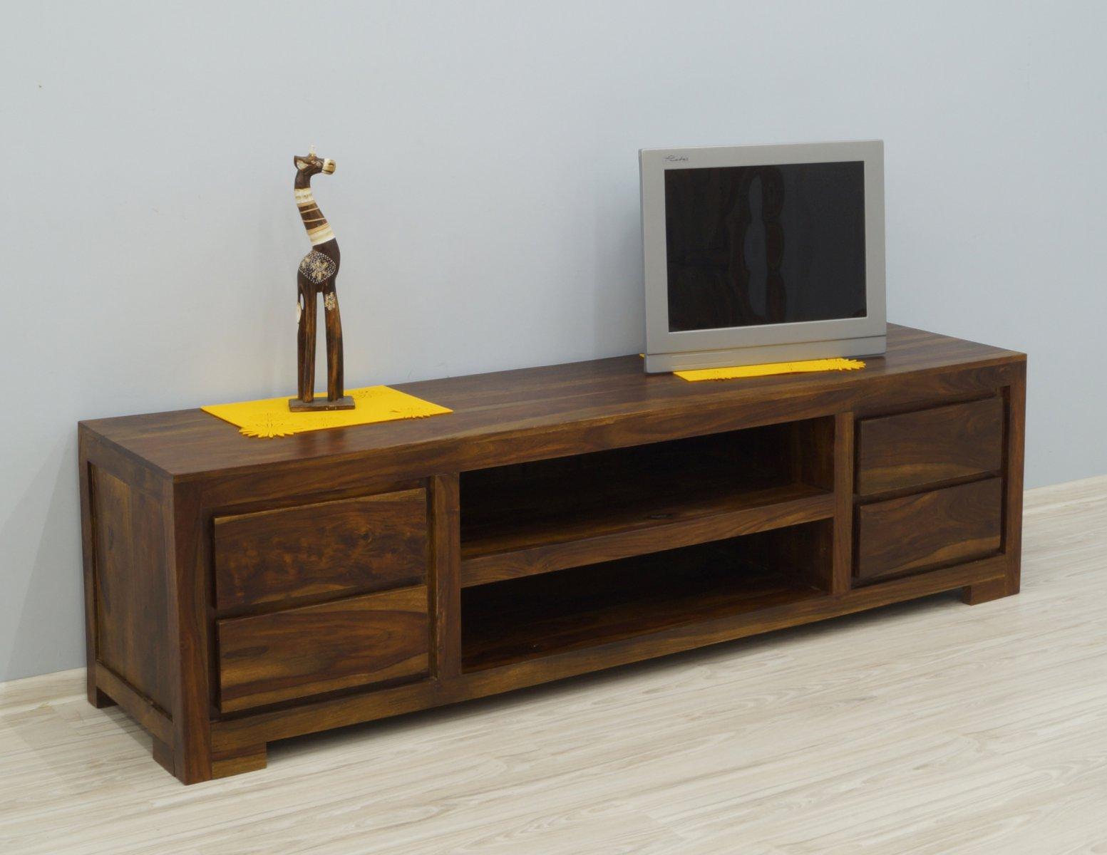 Komoda RTV szafka pod telewizor kolonialna lite drewno palisander indyjski styl nowoczesny
