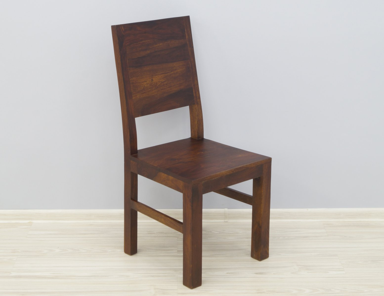 Krzesło kolonialne lite drewno palisander indyjski pełne oparcie ciemny brąz