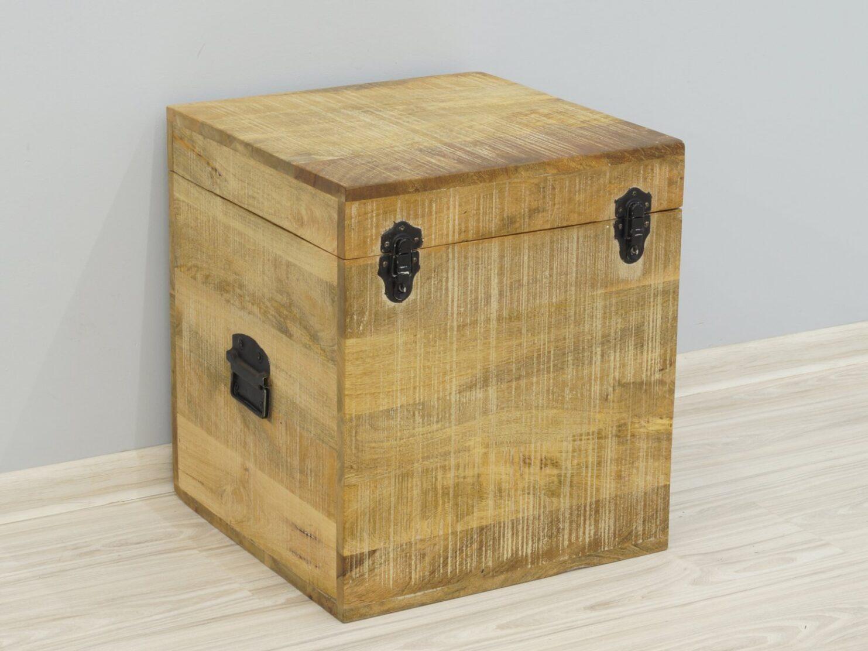 Kufer kolonialny skrzynia egzotyczna lite drewno mango Loft