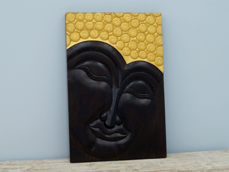 Panel ścienny indyjski wykonany ręcznie malowany prostokątny