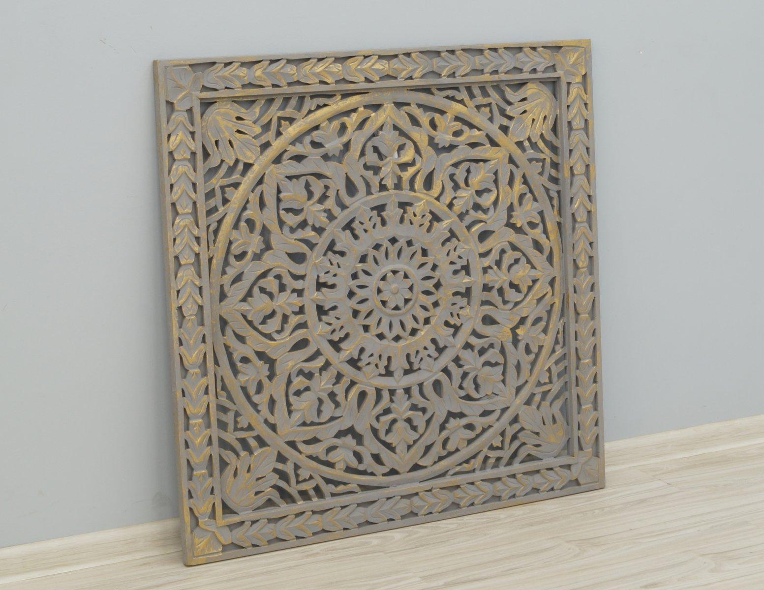 Panel ścienny wykonany ręcznie malowany ażurowy
