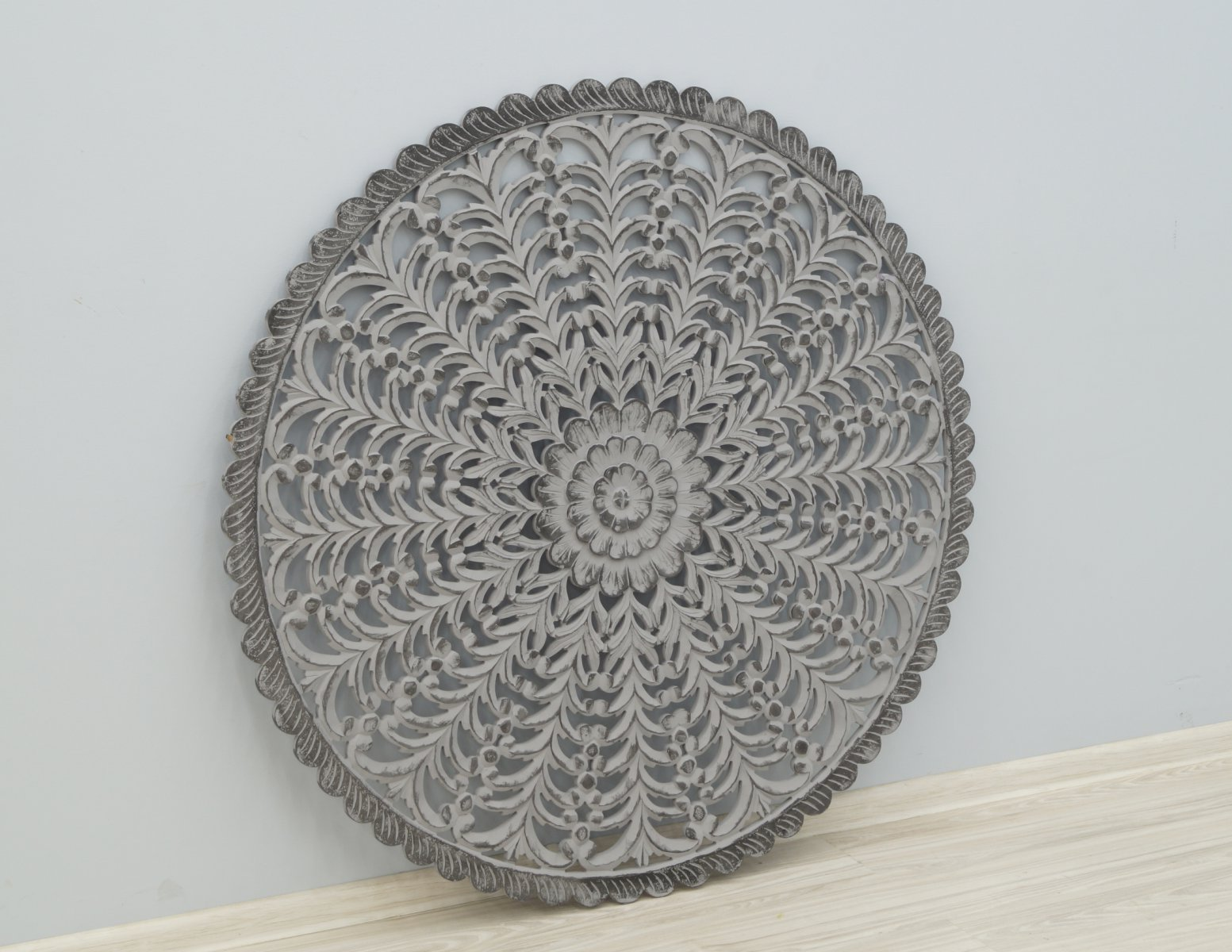 Panel ścienny wykonany ręcznie malowany okrągły
