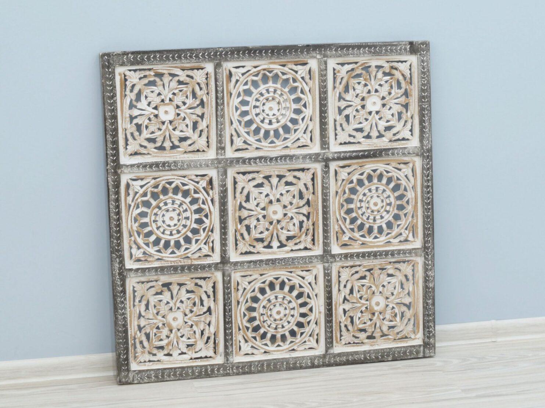 Panel ścienny wykonany ręcznie stylizowany na antyczny