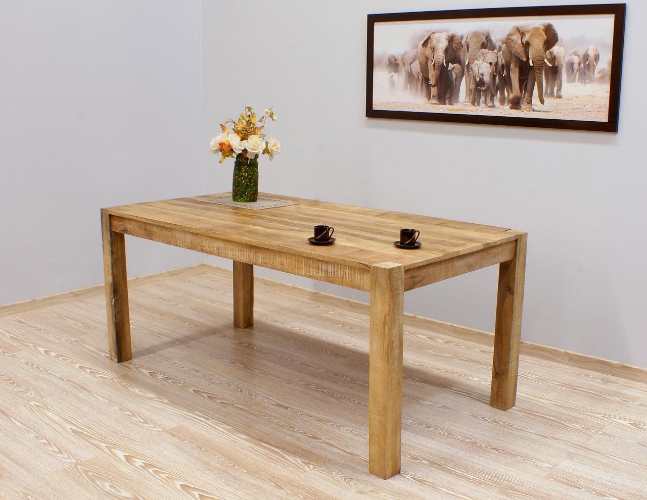 Stół kolonialny lite drewno mango duży styl Loft