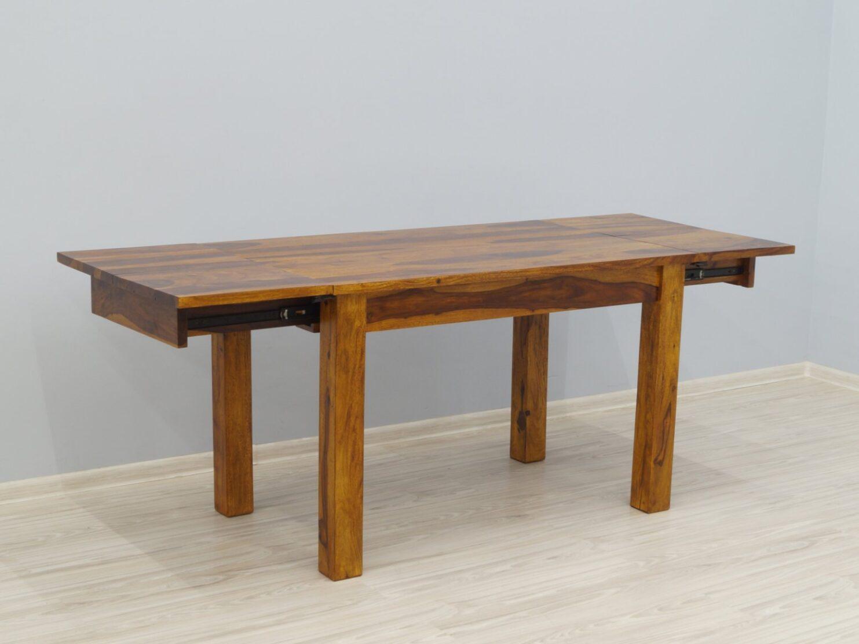 Stół rozkładany lite drewno palisander miodowy brąz nowoczesny masywny