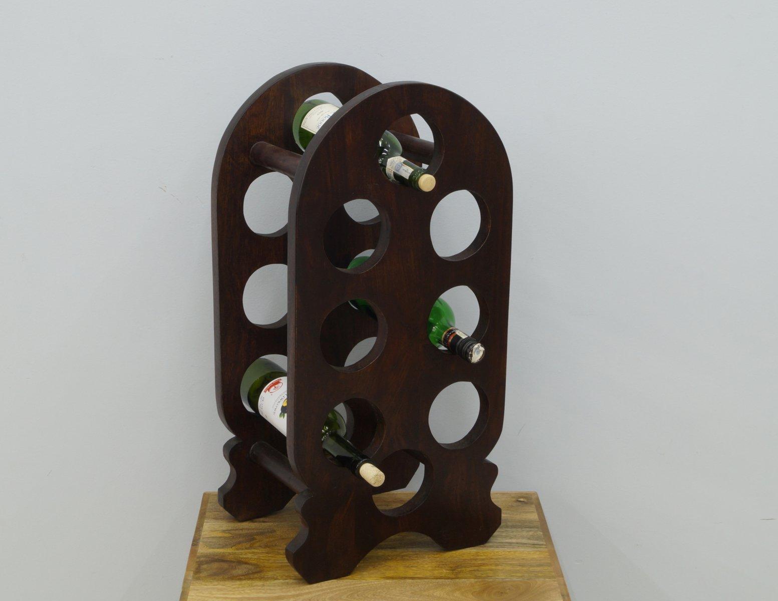 Stojak na wino lite drewno palisander indyjski klasyczny