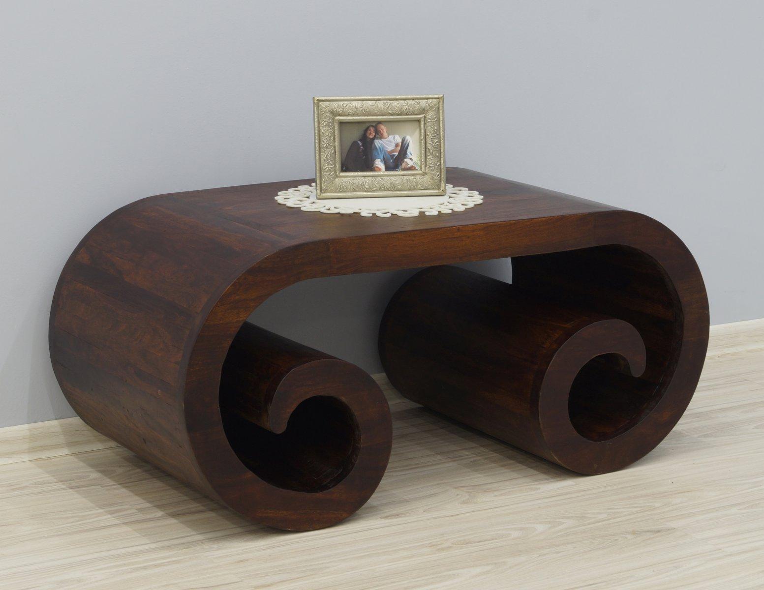 Stolik kawowy kolonialny lite drewno palisander indyjski unikatowe nogi