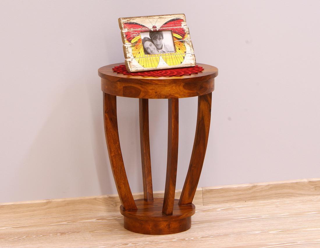 Stolik kolonialny lite drewno palisander indyjski miodowy brąz