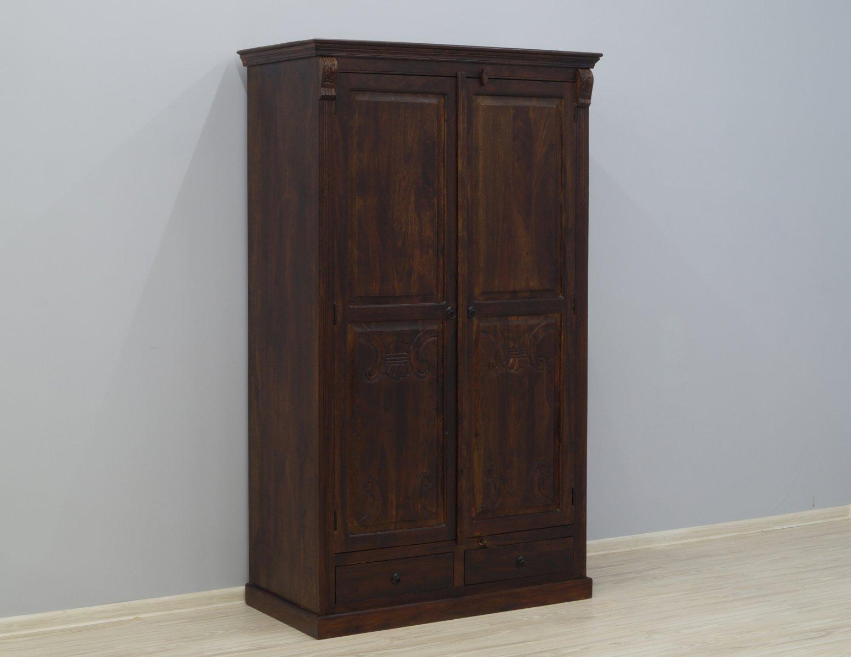 Szafa kolonialna indyjska lite drewno palisander indyjski 2 szuflady
