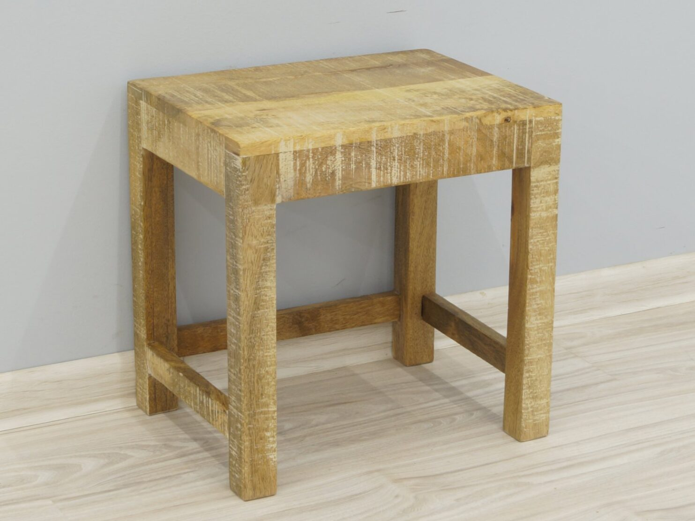 Taboret stołek kolonialny lite drewno mango styl Loft