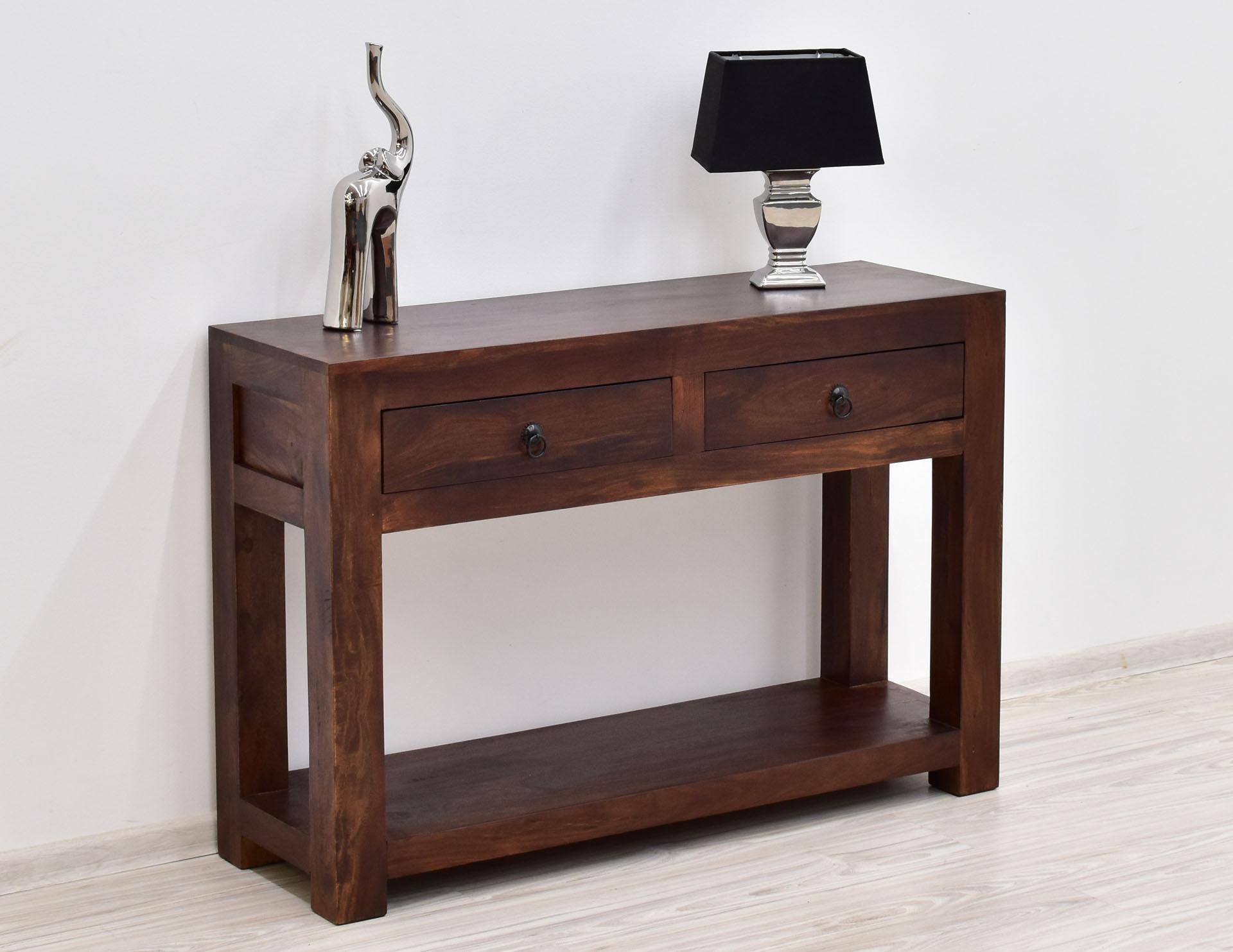 konsola kolonialna palisander indyjski nowoczesna drewno ciemny braz (3)