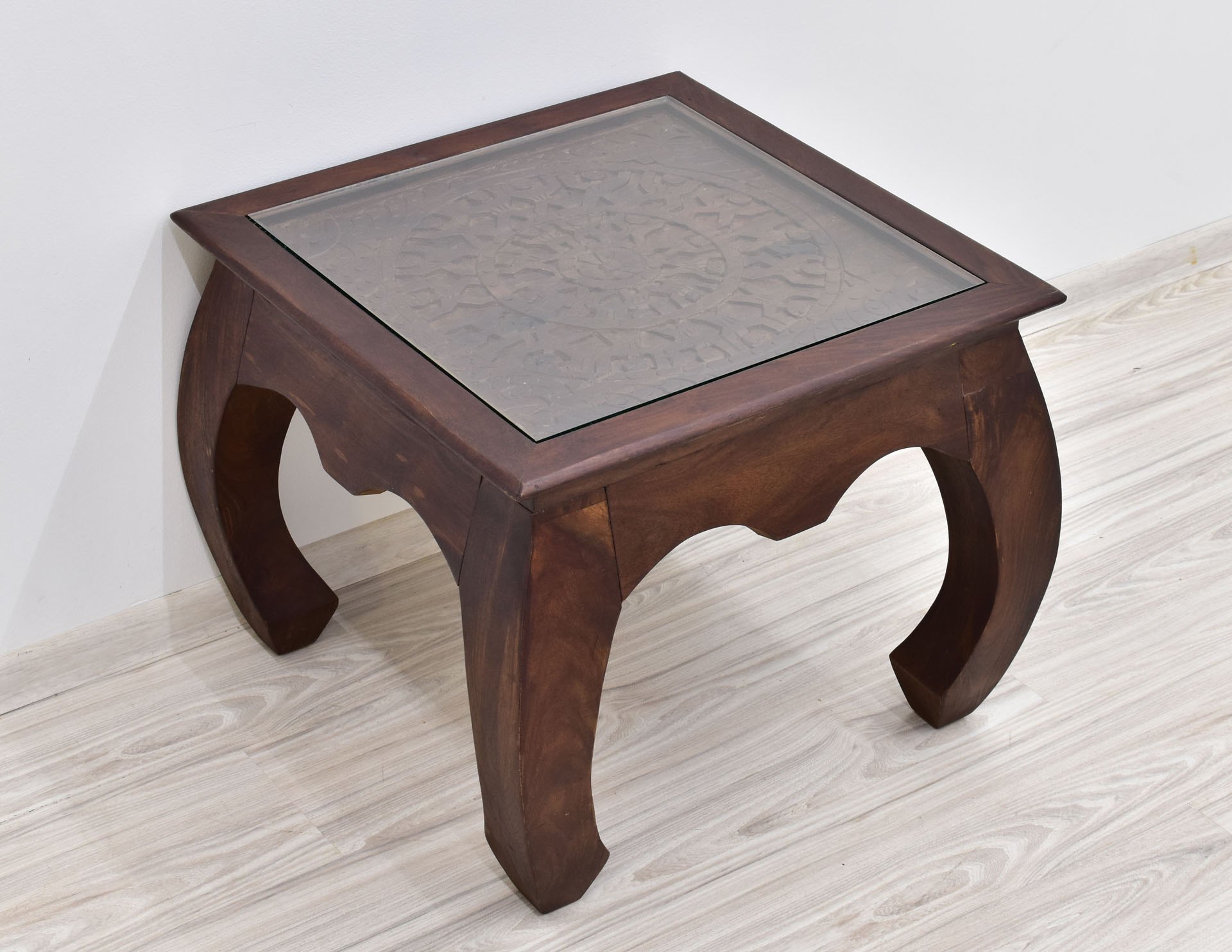 stolik indyjski rzezbiony z szyba kolonialny opium (3)