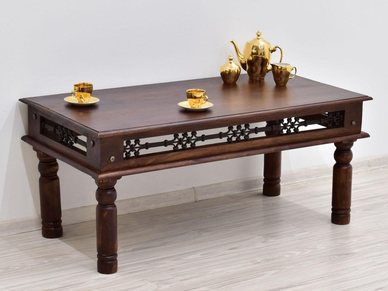 stolik lawa kolonialny drewno palisaner metaloplastyka (3)