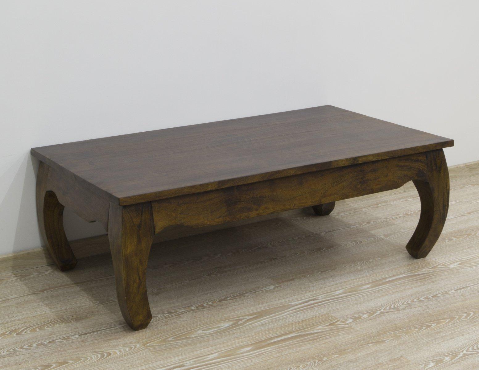 Ława kolonialna stolik kawowy lite drewno akacja indyjska nogi w stylu opium