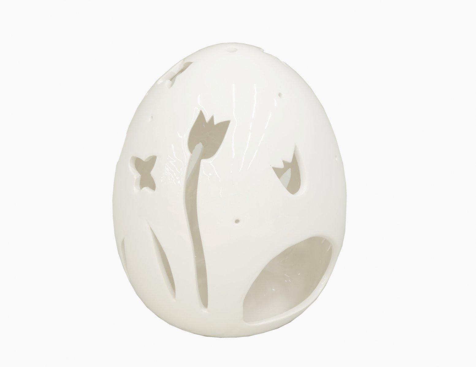 Świecznik ceramiczny jajko