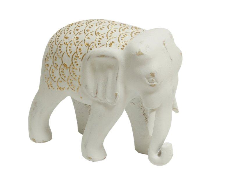 Figurka drewno malowana słon