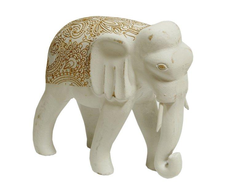 Figurka indyjska drewno malowana słon