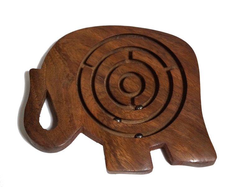 Indyjska gra drewniana labirynt słon