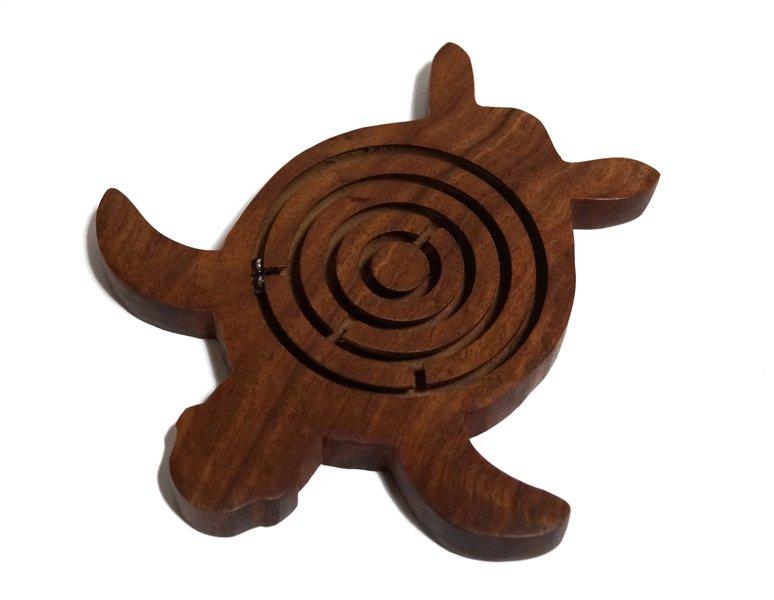 Indyjska gra drewniana labirynt zolw