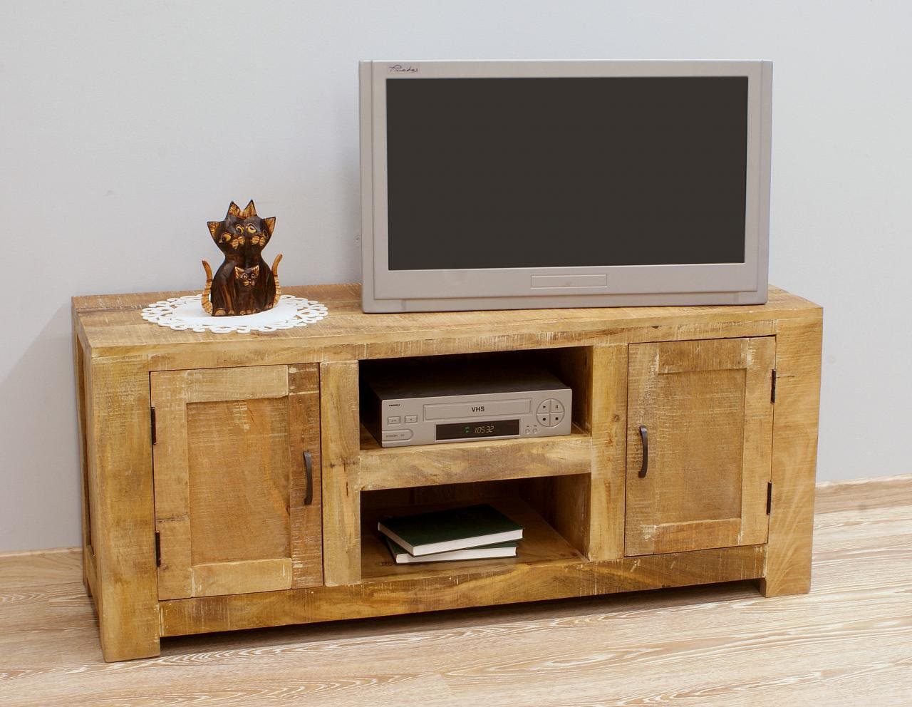 Komoda RTV kolonialna lite drewno mango styl Loft minimalistyczna