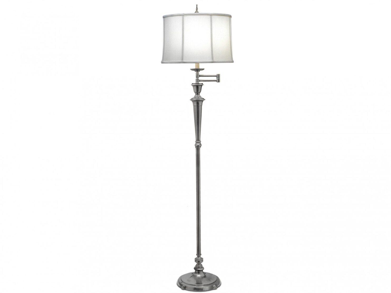 Lampa podłogowa stojąca w odcieniu antycznego niklu