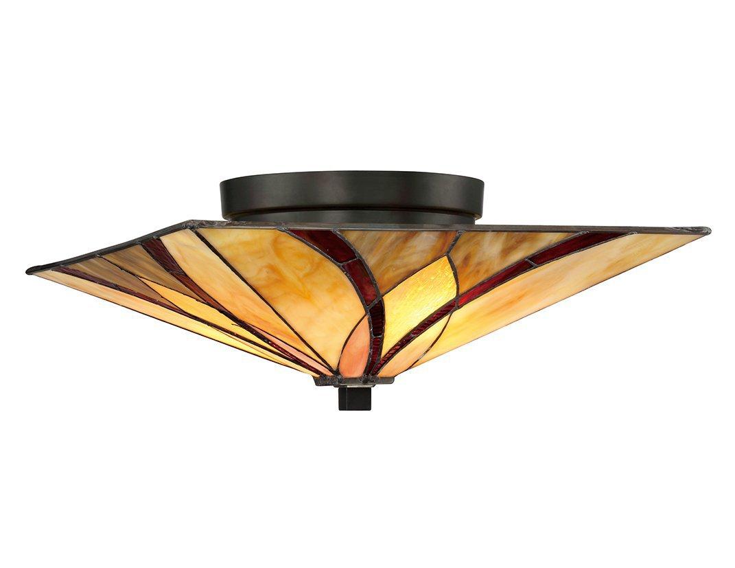 Lampa sufitowa plafon klasyczny artystyczny styl klosz z 44 elementów kolorowego szkła