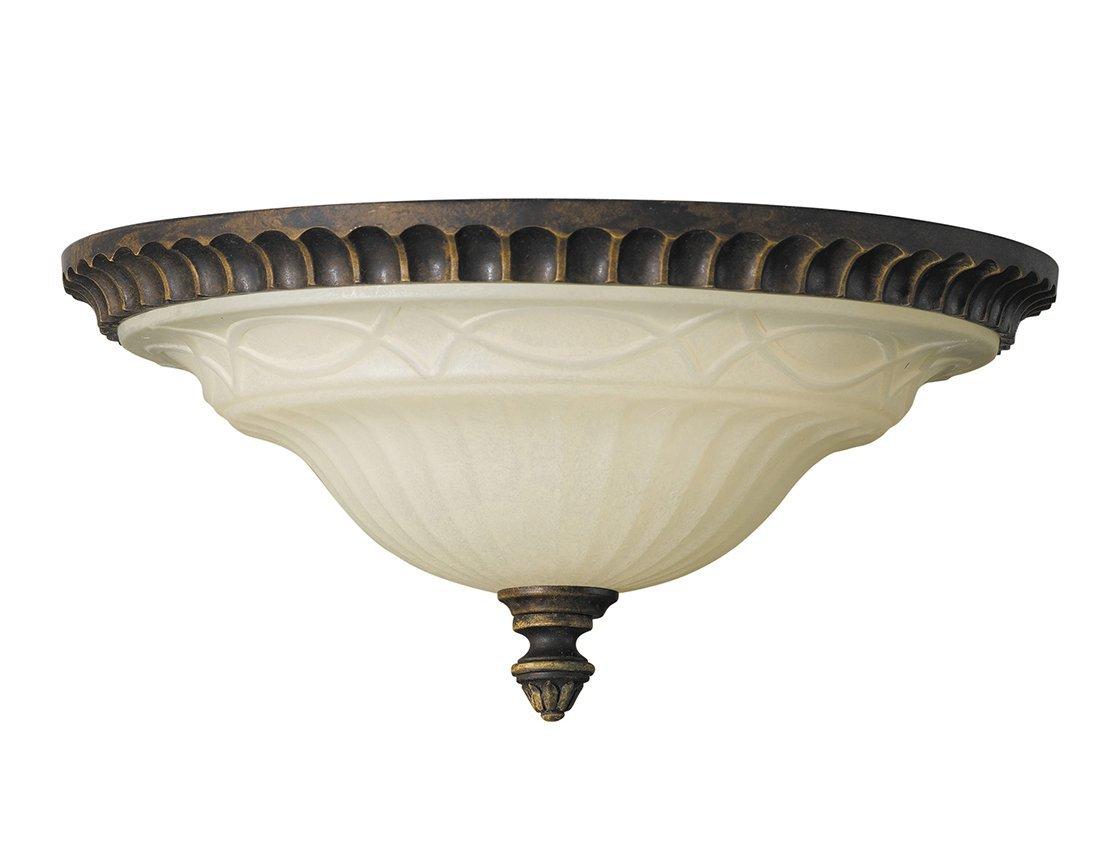 Lampa sufitowa plafon w stylu anglikański brązowy 2 źródła światła klasyczny