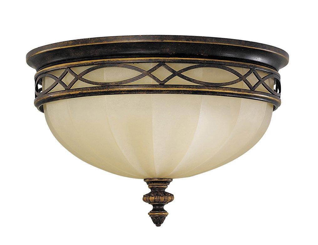 Lampa sufitowa plafon w stylu anglikański brązowy 3 źródła światła klasyczny
