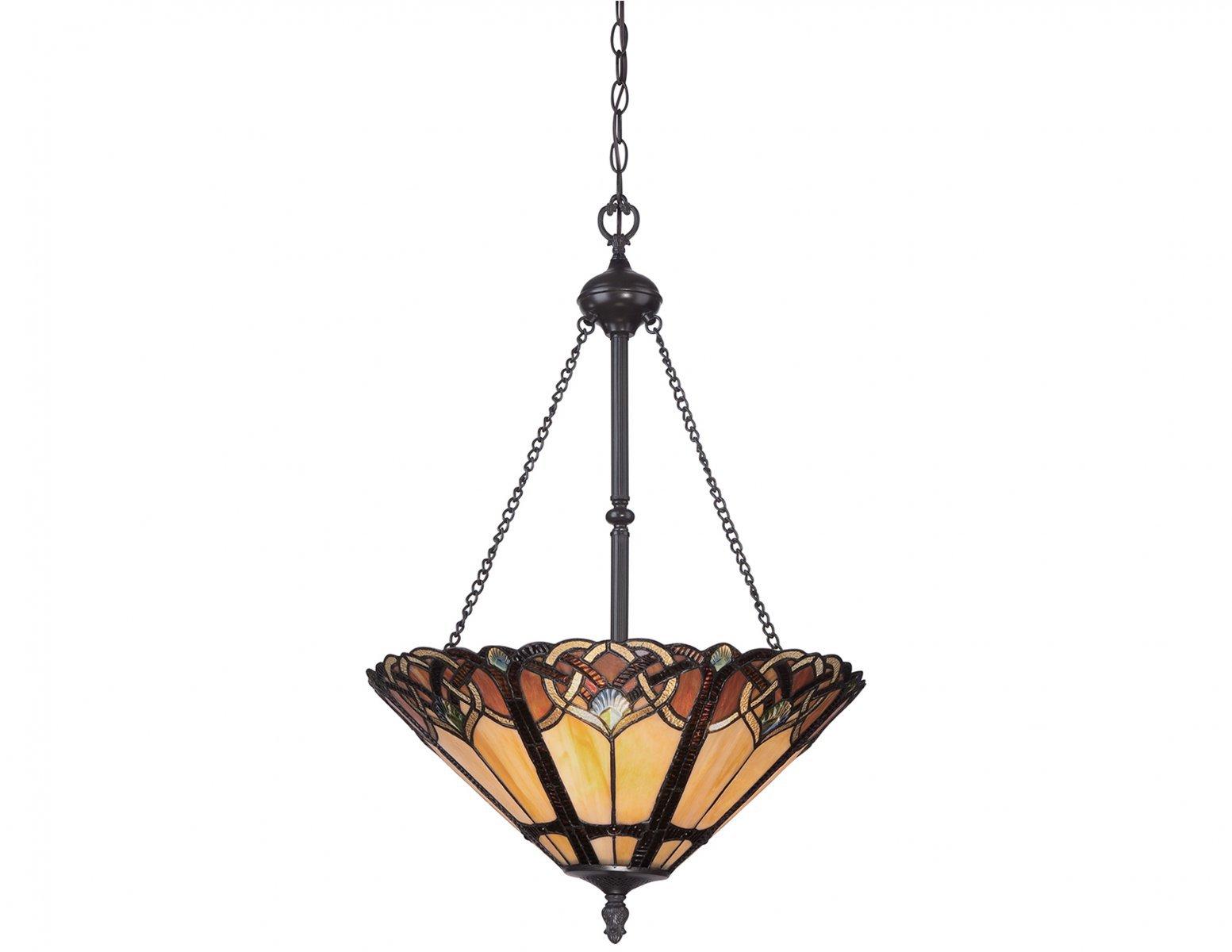 Lampa wisząca klasyczna klosz z artystyczną mozaiką złożoną z 371 elementów szkła