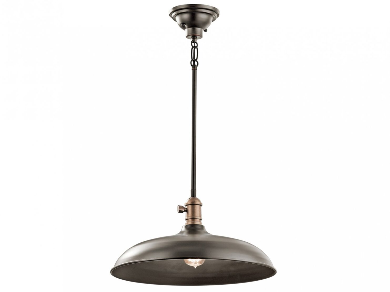 Lampa wisząca modernistyczna nowoczesna z kloszem w odcieniu starego brązu