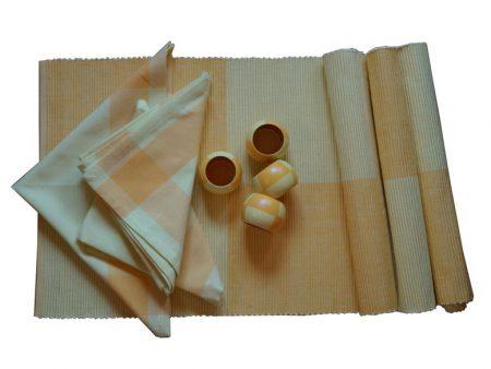 Maty na stół serwetki komplet 4 osobowy