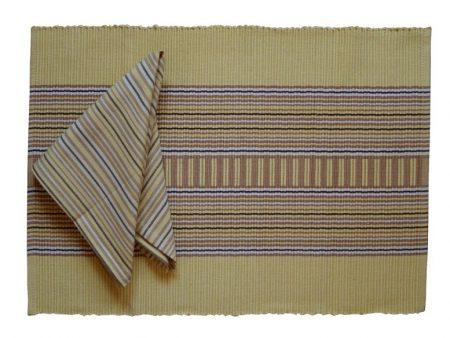 Maty na stół serwetki komplet 4 osobowy bawełna