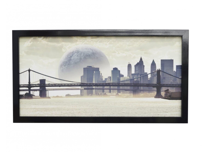 Obraz panorama miasta most abstrakcyjny