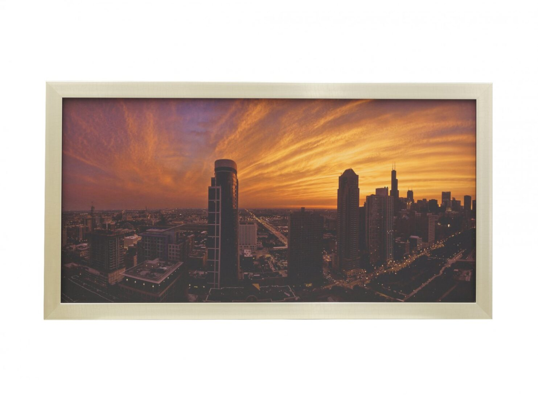 Obraz panorama miasta zachod slonca