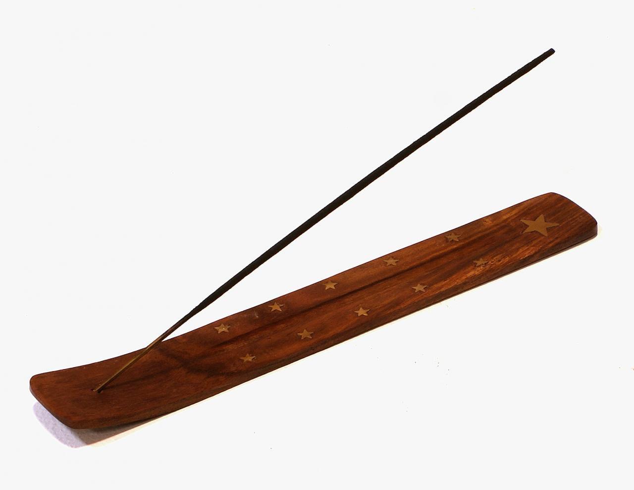 Podstawka pod kadzidelko drewniana indyjska