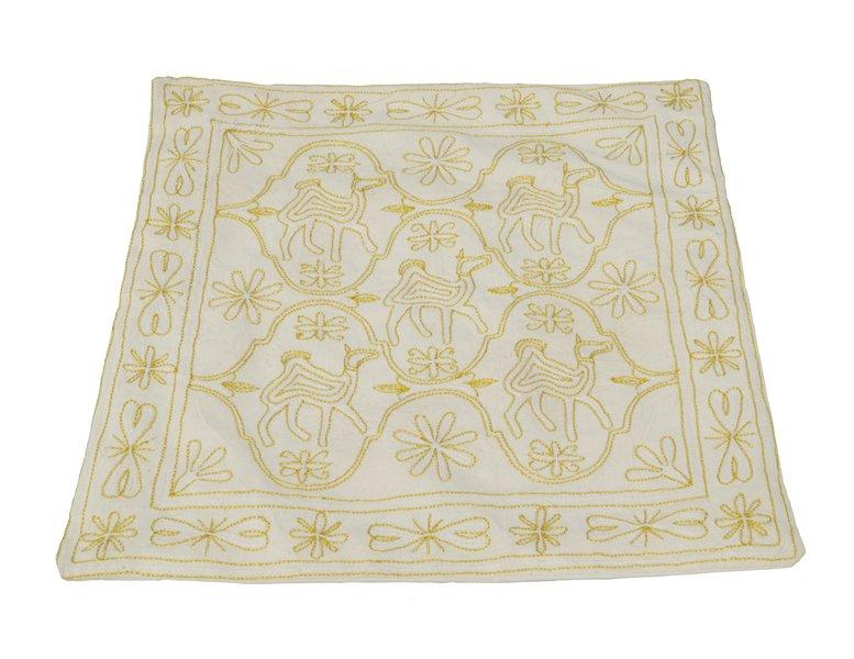 Poszewka na poduszke jasiek indyjska ręcznie wytworzona wyszywana