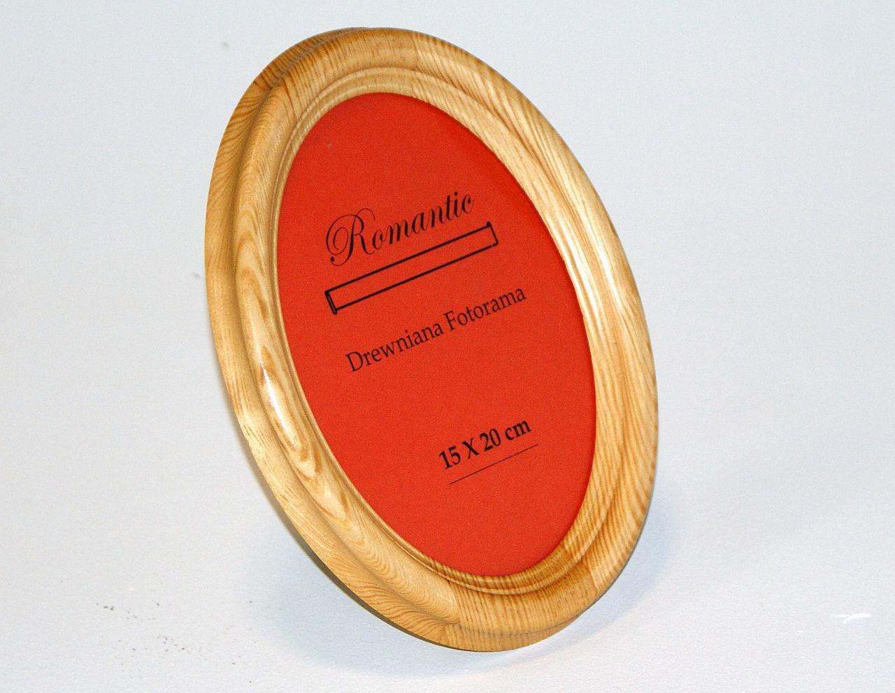 Ramka na zdjecie drewniana owal