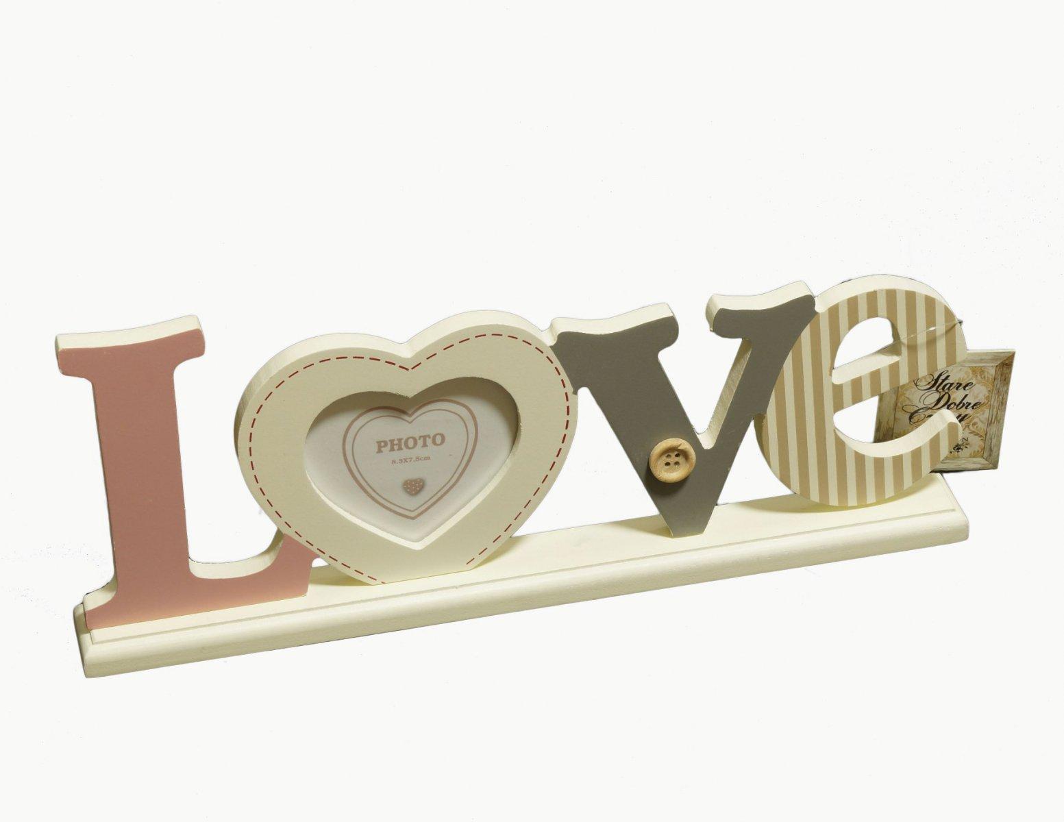 Ramka na zdjecie napis LOVE stojaca
