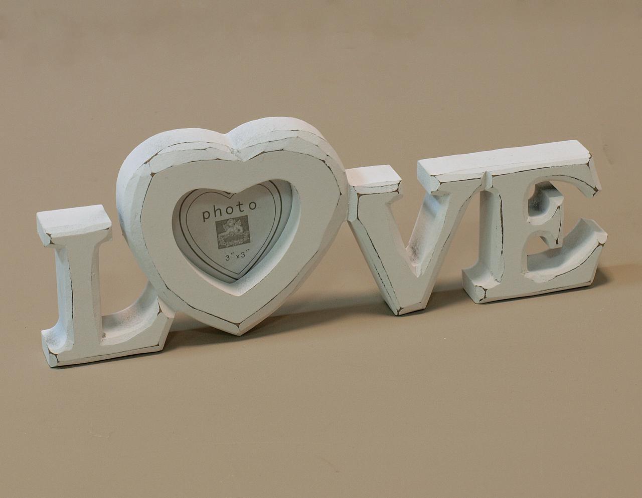 Ramka na zdjecie stojaca napis LOVE
