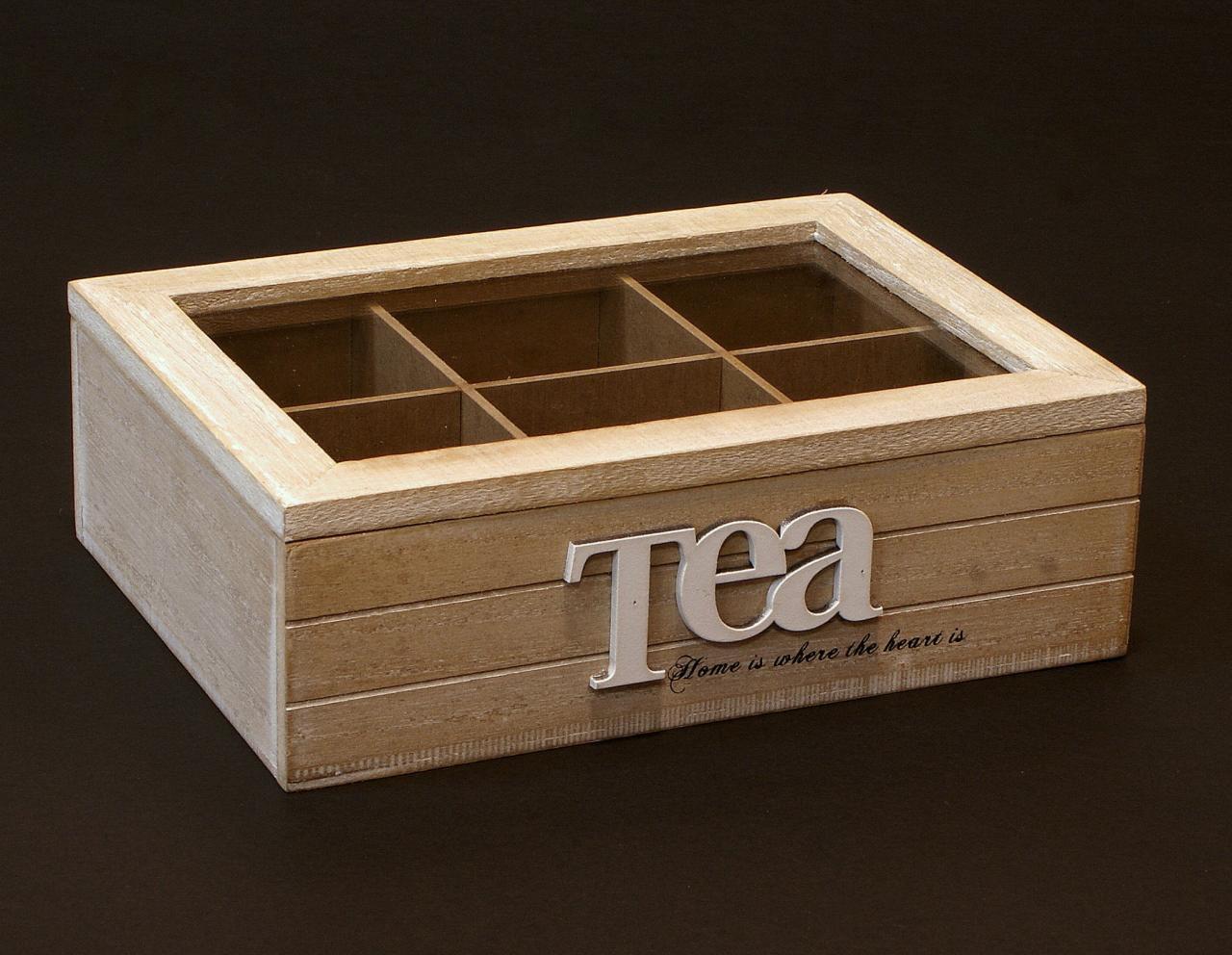 Skrzyneczka drewniana pudelko na herbate