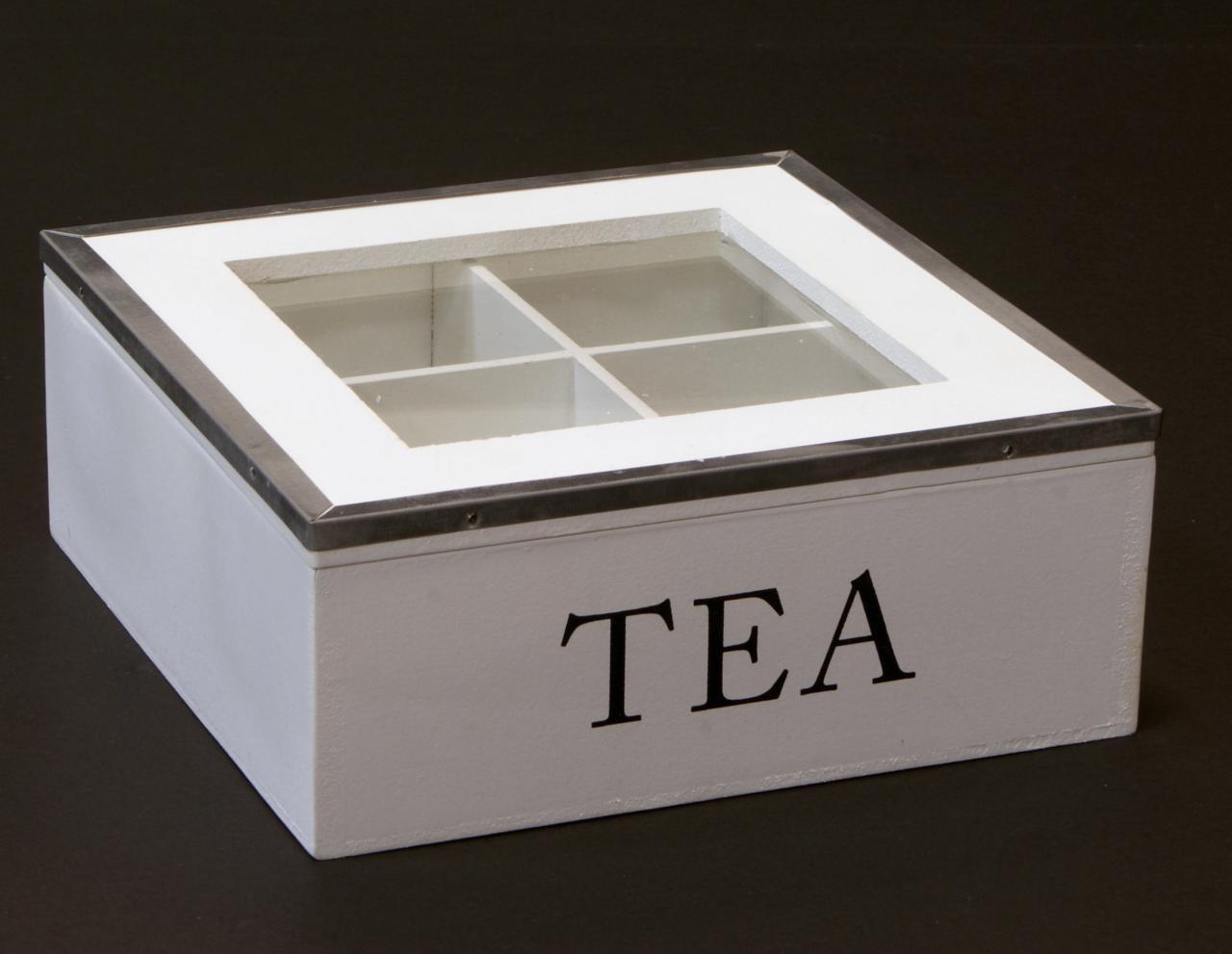 Skrzyneczka drewniana pudelko na herbate metalowe okucia