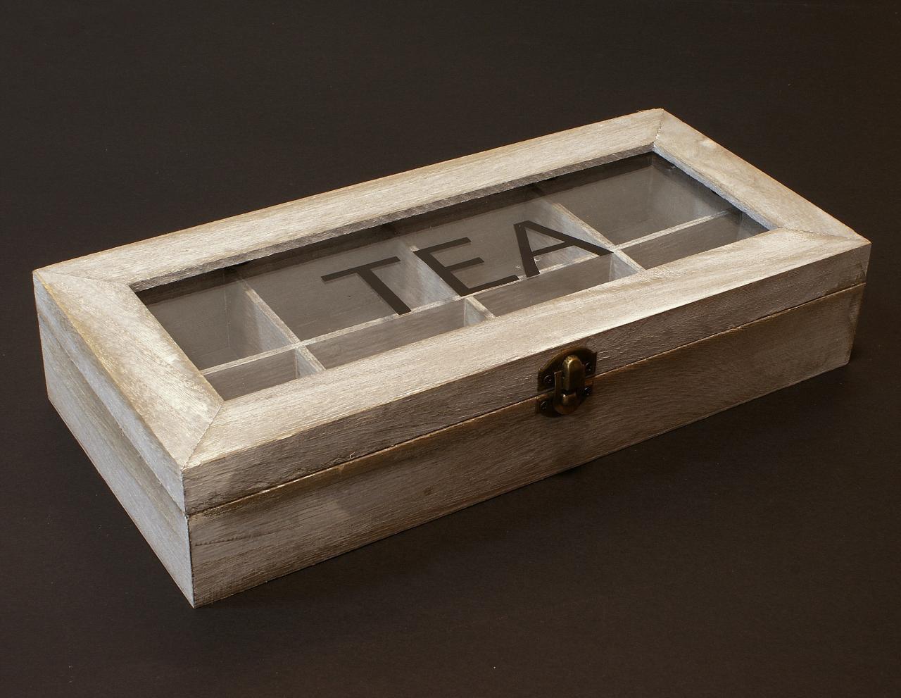 Skrzyneczka drewniana pudelko na herbate podłuzna